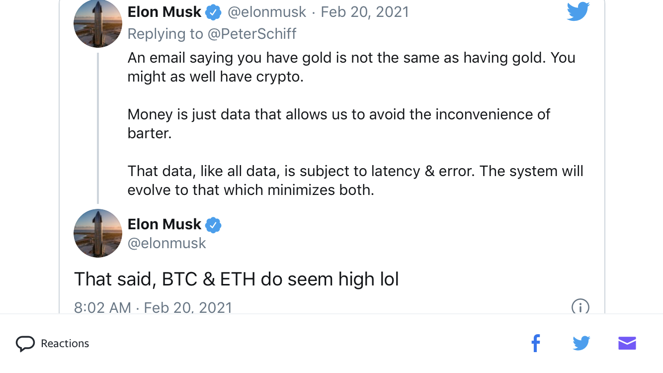 Did a Tweet From Elon Musk Cause the Bitcoin Crash This Is What ...